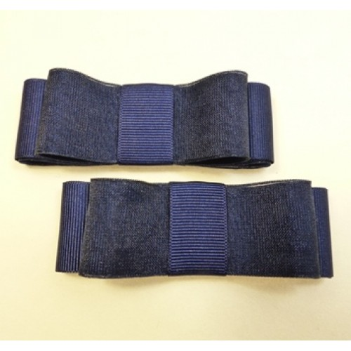 Carly - Navy Shoe Bows