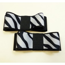 Carly - Zebra Shoe Bows