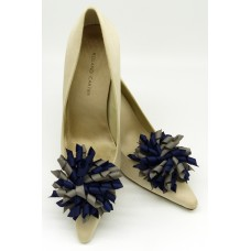Patsy Shoe Clips - navy and grey