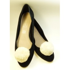 Pom-Pom - Ivory Shoe Clips
