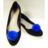 Pom-Pom - Blue Shoe Clips