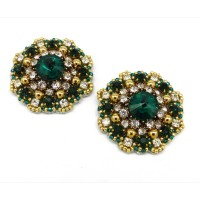 Rosie Shoe Clips - emerald