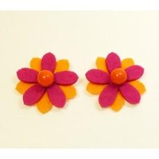 Sunflower - Orange Children's Shoe Clips