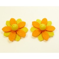 Sunflower - Yellow Children's Shoe Clips