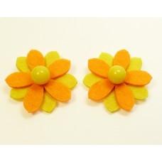 Sunflower - Yellow Children's Shoe Clips