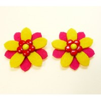 Daisy - Yellow Children's Shoe Clips