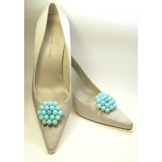 Tiffany - Aqua Shoe Clips