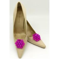 Tiffany - Fuschia Shoe Clips