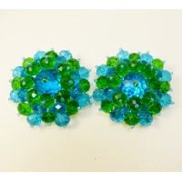 Tiffany Shoe Clips - peacock