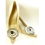 Trinny - Ivory Shoe Clips