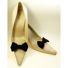 Velvet Bows - Black Shoe Bows