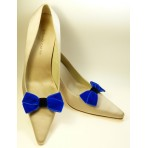 Velvet Bows - Royal Blue Shoe Bows