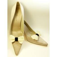 Velvet Bows - Ivory Shoe Bows