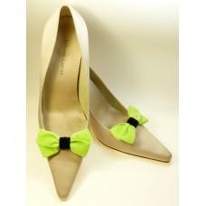 Velvet Bows - Lime Shoe Bows