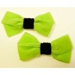 Velvet Bows - Lime Shoe Bows