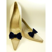 Velvet Bows - Navy Shoe Bows