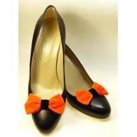 Velvet Bows - Orange Shoe Bows