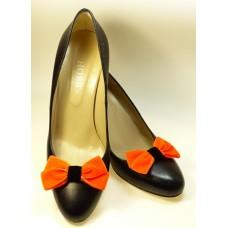 Velvet Bows - Orange Shoe Bows