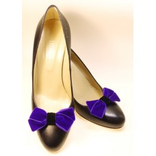 Velvet Bows - Purple Shoe Bows