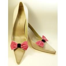 Velvet Bows - Rose Shoe Bows
