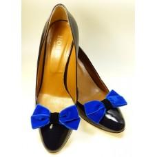 Velvet Bows - Royal Blue Shoe Bows