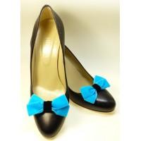 Velvet Bows - Turquoise Shoe Bows